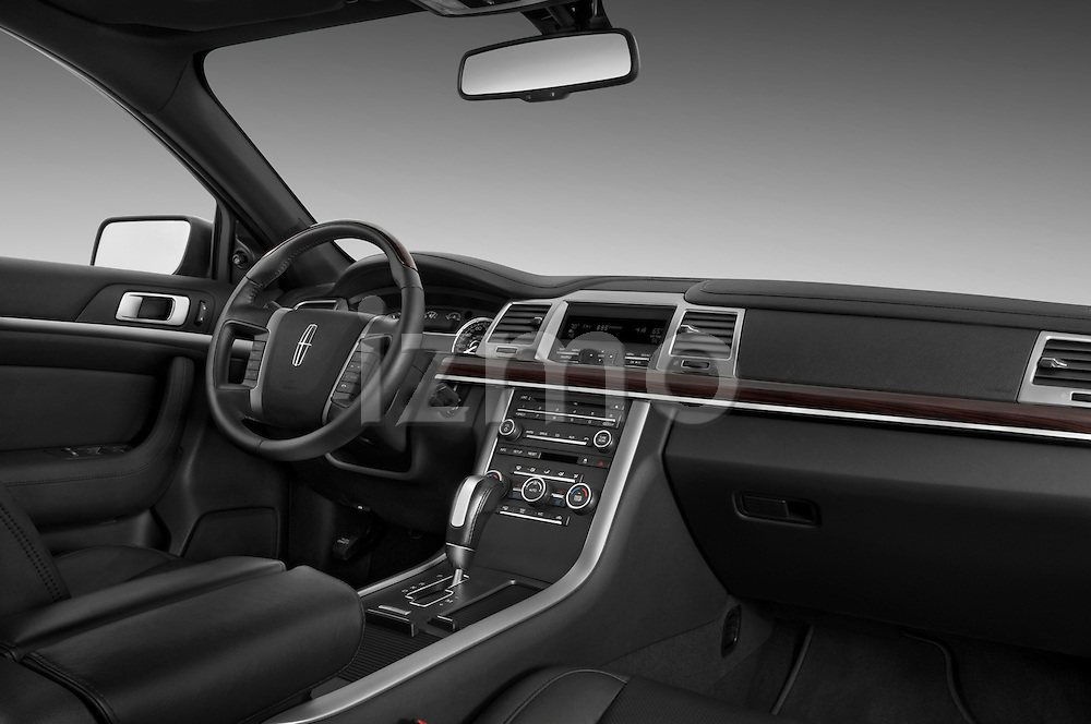 Dashboard view from the passenger side of a 2010 Lincoln MKS FWD.