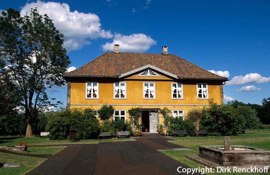 Norwegen, Blaavarvevarket bei Åmot, Villa des Direktors der Kobalthütte