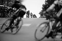 Gent-Wevelgem 2013.peloton chasing the 3 leaders.