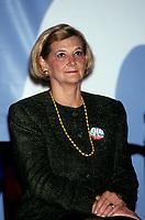 Andree Simard la conjointe du Premier ministre Robert Bourassa durant le referendum de 1992<br /> <br /> PHOTO : © Agence Quebec Presse