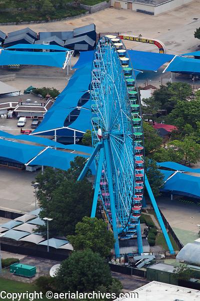 aerial photograph of  the Texas Star Ferris Wheel, Fair Park, Dallas, Texas