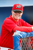 July 1, 2009:  Pitching Coach Timothy Leveque of the Batavia Muckdogs before a game at Dwyer Stadium in Batavia, NY.  The Muckdogs are the NY-Penn League Short-Season Class-A affiliate of the St. Louis Cardinals.  Photo By Mike Janes/Four Seam Images