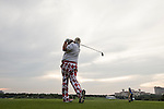 John Daly tees off during the World Celebrity Pro-Am 2016 Mission Hills China Golf Tournament on 21 October 2016, in Haikou, China. Photo by Victor Fraile / Power Sport Images