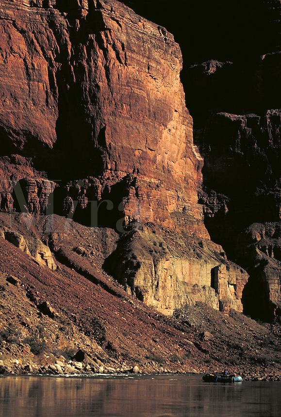 Man rafting, Colorado River, Grand Canyon National Park, Arizona