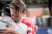 Emotions run free as Johan Price-Pejtersen (DEN/Uno-X) crowned himself the newest U23 Mens Time Trial World Champion<br /> <br /> World Championships U23 Men - ITT <br /> Time Trial from Knokke-Heist to Bruges (30.3km)<br /> <br /> UCI Road World Championships - Flanders Belgium 2021<br /> <br /> ©kramon