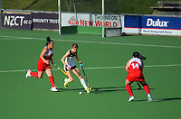 Action from the women's premier one Wellington Hockey match between Harbour City and Toa at National Hockey Stadium in Wellington, New Zealand on Saturday, 13 June 2020. Photo: Dave Lintott / lintottphoto.co.nz