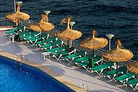 Spanien, Mallorca, Pool von Hotel Florida in  Magaluf