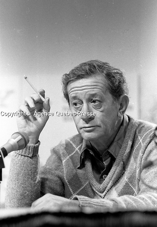 FILE -  Donald Brittain at the World Film Festival<br /> <br /> <br /> , 1986<br /> <br /> Photo : <br /> Pierre Roussel - Agence Quebec Presse
