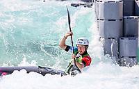 Camille Prigent, (FRA). K1. Oceania Canoe Slalom Championships, Whero Whitewater Park, Auckland, New Zealand, 1st February 2020. Photo: Simon Watts/www.bwmedia.co.nz