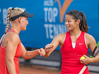 Amstelveen, Netherlands, 1 August 2020, NTC, National Tennis Center, National Tennis Championships, Women's Doubles final: Suzan Lamens (NED) (L) and Arianne Hartono (NED)<br /> Photo: Henk Koster/tennisimages.com