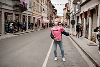 waiting for the riders to roll by...<br /> <br /> 104th Giro d'Italia 2021 (2.UWT)<br /> Stage 15 from Grado to Gorizia (147km)<br /> <br /> ©kramon