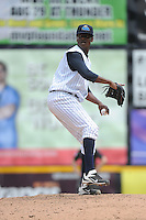 Trenton Thunder pitcher Francisco Rondon (52) during game against the Harrisburg Senators at ARM & HAMMER Park on July 31, 2013 in Trenton, NJ.  Harrisburg defeated Trenton 5-3.  (Tomasso DeRosa/Four Seam Images)