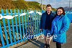 Grainne and Mike O'Neill who decorated the railings with fish emblems on the approach to Fenit beach.