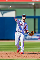 2 March 2019: Washington Nationals top prospect infielder Carter Kieboom in action during a Spring Training game against the Minnesota Twins at the Ballpark of the Palm Beaches in West Palm Beach, Florida. The Nationals defeated the Twins 10-6 in Grapefruit League play. Mandatory Credit: Ed Wolfstein Photo *** RAW (NEF) Image File Available ***