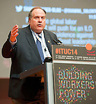 Berlin-Germany - May 21, 2014 -- International Trade Union Confederation - 3rd ITUC World Congress 'Building Workers' Power'; here, Jim Baker, candidate for the position of ITUC Secretary General -- Photo: © HorstWagner.eu / ITUC