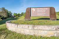 West Virginia. New River Gorge National Park Visitor Center Sign.