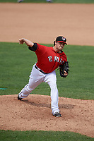 Erie SeaWolves relief pitcher Sean Donatello (49) delivers a pitch during a game against the Hartford Yard Goats on August 6, 2017 at UPMC Park in Erie, Pennsylvania.  Erie defeated Hartford 9-5.  (Mike Janes/Four Seam Images)