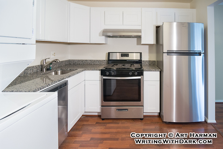 Condo with brand new kitchen! By Art Harman. I bring special lighting and lenses to eliminate gloomy shadows and show off your property for best results, and this matters in small properties.