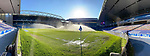 Rangers v St Johnstone…25.04.21   Ibrox.  Scottish Cup<br />The Rangers ground staff water the pitch prior to kick off<br />Picture by Graeme Hart.<br />Copyright Perthshire Picture Agency<br />Tel: 01738 623350  Mobile: 07990 594431