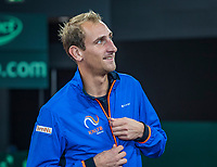 The Hague, The Netherlands, September 13, 2017,  Sportcampus , Davis Cup Netherlands - Chech Republic, Training Dutch team, <br /> Photo: Tennisimages/Henk Koster