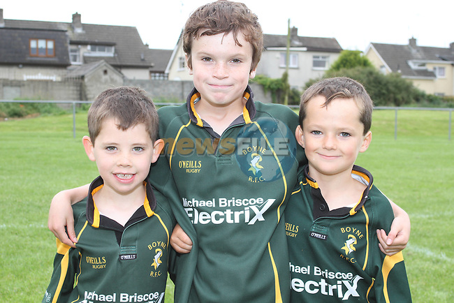 Tom Feeney with Shane and Alan Foley at the Summer Camp in Boyne Rugby Football Club...Picture Jenny Matthews/Newsfile.ie