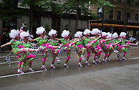 The Red Hot Mamas, Musical & Comedy Performance Group, Seafair Torchlight Parade 2015, Seattle, Washington State, WA, America, USA.