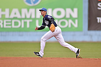 Asheville Tourists second baseman Alec Mehrten #7 during a game against the  Greenville Drive at McCormick Field on May 17, 2014 in Asheville, North Carolina. The Tourists defeated the Drive 14-6. (Tony Farlow/Four Seam Images)