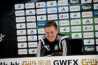 Monday 02 March 2015<br /> Pictured: Manager of Swansea City, Garry Monk <br /> Re: Swansea City FC Press Conference ahead of the upcoming away game v Tottenham Hotspur