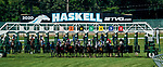 July 18, 2020: Scenes from an undercard race on Haskell Invitational Day at Monmouth Park Racecourse in Oceanport, New Jersey. Scott Serio/Eclipse Sportswire/CSM