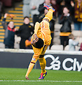 MOTHERWELL'S OMAR DALEY CELEBRATES AFTER HE SCORES MOTHERWELL'S FIRST GOAL.07/01/2012 sct_jsp013_motherwell_v_queens_park     .Copyright  Pic : James Stewart.James Stewart Photography 19 Carronlea Drive, Falkirk. FK2 8DN      Vat Reg No. 607 6932 25.Telephone      : +44 (0)1324 570291 .Mobile              : +44 (0)7721 416997.E-mail  :  jim@jspa.co.uk.If you require further information then contact Jim Stewart on any of the numbers above.........