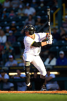 Bradenton Marauders second baseman Kevin Kramer (14) at bat during a game against the Fort Myers Miracle on April 9, 2016 at McKechnie Field in Bradenton, Florida.  Fort Myers defeated Bradenton 5-1.  (Mike Janes/Four Seam Images)