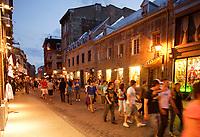 Montreal (Qc) Canada - august 1st 2009 - Saint-Paul street.