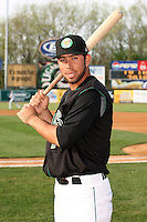 April 11 2010: Gil Leonardo of the Kane County Cougars at Elfstrom Stadium in Geneva, IL. The Cougars are the Low A affiliate of the Oakland A's. Photo by: Chris Proctor/Four Seam Images