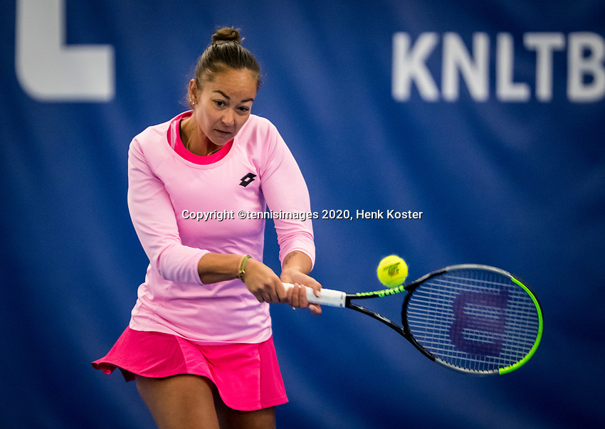 Amstelveen, Netherlands, 18  December, 2020, National Tennis Center, NTC, NK Indoor, National  Indoor Tennis Championships,   : Lesley Pattinama-Kerkhove  (NED) <br /> Photo: Henk Koster/tennisimages.com