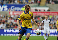 Saturday 28 September 2013<br /> Pictured: Per Mertesacker of Arsenal<br /> Re: Barclay's Premier League, Swansea City FC v Arsenal at the Liberty Stadium, south Wales.