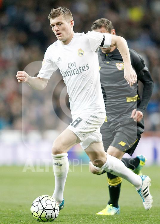 Real Madrid's Toni Kroos during La Liga match. March 20,2016. (ALTERPHOTOS/Acero)