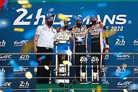 PODIUM LMP1 #8 TOYOTA GAZOO RACING (JPN) TOYOTA TS050 HYBRID LMP1 HYBRID  SEBASTIEN BUEMI  (CHE) KAZUKI NAKAJIMA (JPN) BRENDON HARTLEY (NZL)