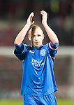 Hearts v St Johnstone....11.01.11  Scottish Cup.Jody Morris applauds the fans at full time.Picture by Graeme Hart..Copyright Perthshire Picture Agency.Tel: 01738 623350  Mobile: 07990 594431