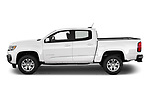 Car Driver side profile view of a 2021 Chevrolet Colorado LT 4 Door Pick-up Side View