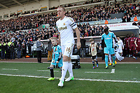 Saturday 2nd March 2013<br /> Pictured: (L-R) Garry Monk, Michel Vorm.<br /> Re: Barclays Premier Leaguel, Swansea  v Newcastle at the Liberty Stadium in Swansea.