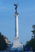 The Monument aux Girondins. Esplanade des Quinconces. Bordeaux city, Aquitaine, Gironde, France