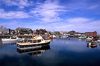 Beauty of New England Harbour Beauty in Rockport, MA Massachusetts.