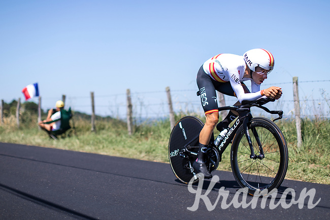 Spanish National TT Champion Jonathan Castroviejo (ESP/Ineos)<br /> <br /> Stage 13: ITT - Pau to Pau (27.2km)<br /> 106th Tour de France 2019 (2.UWT)<br /> <br /> ©kramon