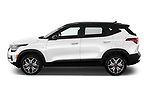 Car Driver side profile view of a 2021 KIA Seltos SX 5 Door SUV Side View