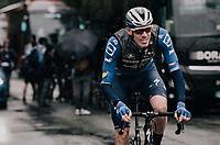 Tim Declercq (BEL/Deceuninck - Quick Step) at the race start in Compiègne<br /> <br /> 118th Paris-Roubaix 2021 (1.UWT)<br /> One day race from Compiègne to Roubaix (FRA) (257.7km)<br /> <br /> ©kramon