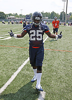 Virginia running back Torrey Mack during open spring practice for the Virginia Cavaliers football team August 7, 2009 at the University of Virginia in Charlottesville, VA. Photo/Andrew Shurtleff