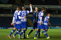 Celebrations following Ismael Diaz de Leon (not pictured) of Porto U21 winning goal during the Premier League U21 International Cup match between Porto U21 and Schalke 04 U21 at Adams Park, High Wycombe, England on 25 September 2015. Photo by Andy Rowland.