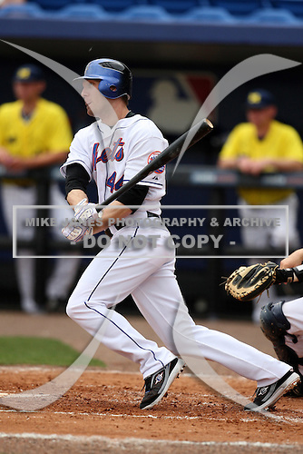 March 21, 2010:  Left Fielder Jason Bay (44) of the New York Mets during a Spring Training game at Tradition Field in St. Lucie, FL.  Photo By Mike Janes/Four Seam Images
