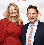 Heidi Schreck and director Oliver Butler attends the 2019 Off Broadway Alliance Awards Reception at Sardi's on June 18, 2019 in New York City.