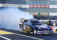 May 30, 2014; Englishtown, NJ, USA; NHRA funny car driver Jack Beckman during qualifying for the Summernationals at Raceway Park. Mandatory Credit: Mark J. Rebilas-